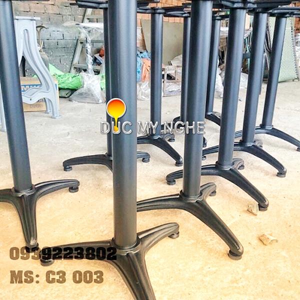 Chân Bàn Cafe Gang Đúc Đẹp Trụ Sắt 3 Chân - Quán Ăn Trà Sữa ở Tphcm C3003 - Hình 6