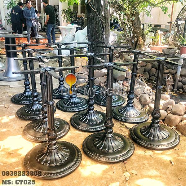 Chân Bàn Tròn Cafe Gang Đúc Cổ Điển - Nhà Hàng Quán Ăn Ở Tphcm CT025 - Hình 5
