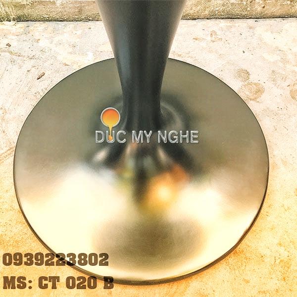 Chân Bàn Tulip Nhà Hàng Cafe - Đế Tròn 650mm Gang Đúc CT020B - Hình 2