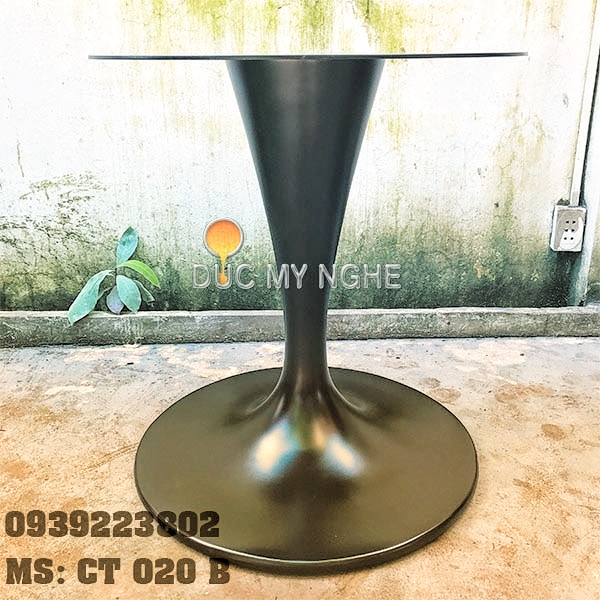 Chân Bàn Tulip Nhà Hàng Cafe - Đế Tròn 650mm Gang Đúc CT020B - Hình 4
