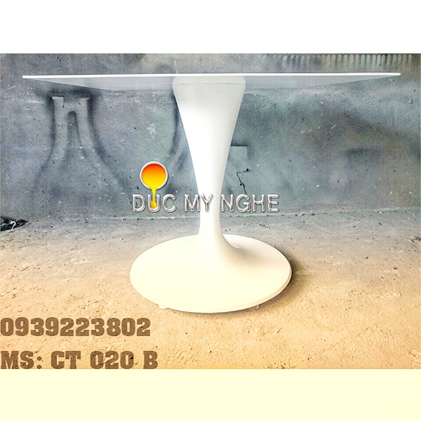 Chân Bàn Tulip Nhà Hàng Cafe - Đế Tròn 650mm Gang Đúc CT020B - Hình 5