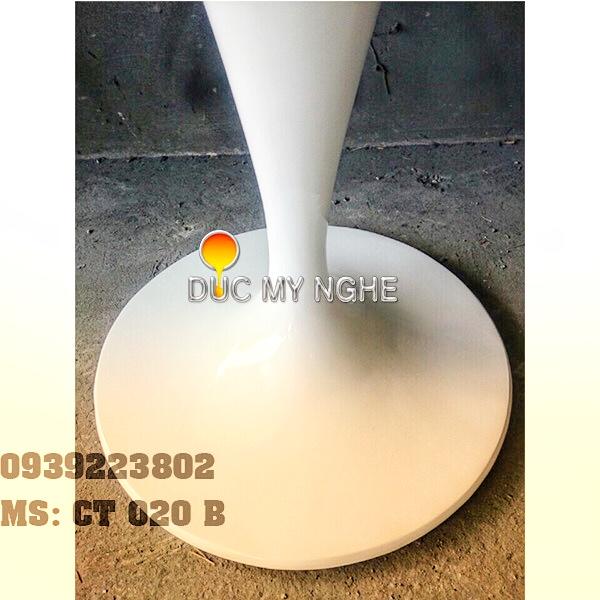 Chân Bàn Tulip Nhà Hàng Cafe - Đế Tròn 650mm Gang Đúc CT020B - Hình 6