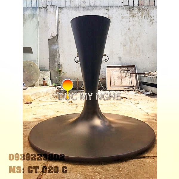Chân Bàn Tulip Nhà Hàng Đế Tròn 800mm Gang Đúc Nặng CT020C - Hình 3