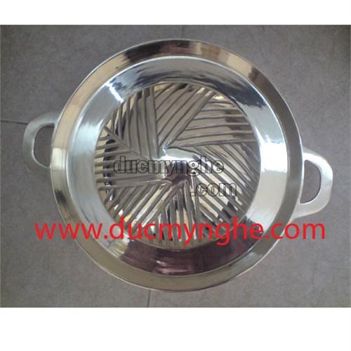 Chảo lẩu chiên hàn quốc đúc bằng đồng xi crom nhà hàng quán ăn NC002 - Hình 1