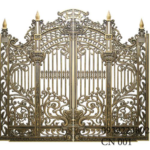 Cửa cổng Nhôm đúc CN001 - Hình 1