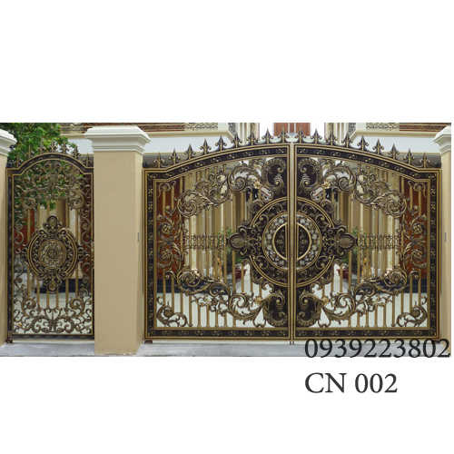 Cửa cổng Nhôm đúc CN002 - Hình 1