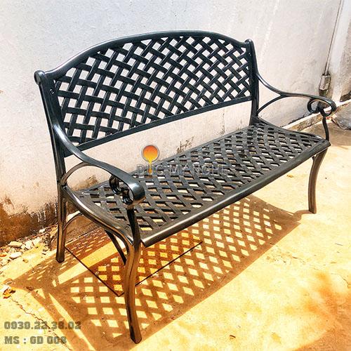 Ghế Băng Dài Công Viên Nhôm Đúc Ngoài Trời Sân Vườn Đẹp Nhất Tphcm GD008 - Hình 1
