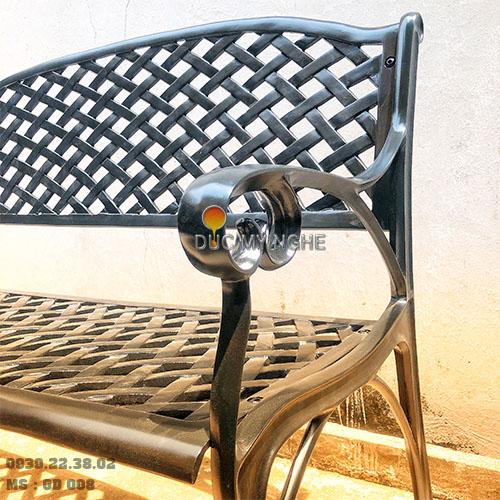 Ghế Băng Dài Công Viên Nhôm Đúc Ngoài Trời Sân Vườn Đẹp Nhất Tphcm GD008 - Hình 2