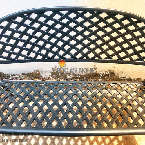 Ghế Băng Dài Công Viên Nhôm Đúc Ngoài Trời Sân Vườn Đẹp Nhất Tphcm GD008 - Hình 4