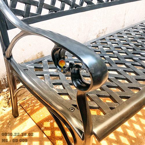 Ghế Băng Dài Công Viên Nhôm Đúc Ngoài Trời Sân Vườn Đẹp Nhất Tphcm GD008 - Hình 5