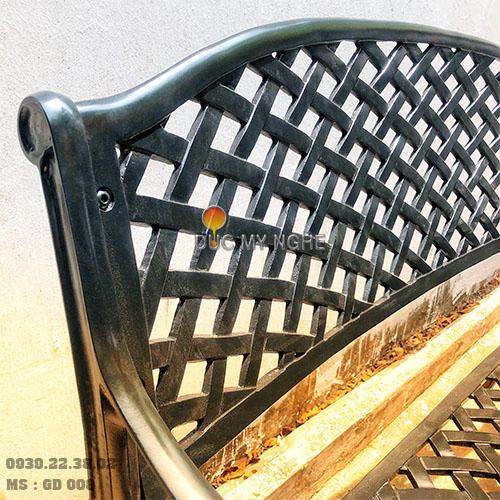 Ghế Băng Dài Công Viên Nhôm Đúc Ngoài Trời Sân Vườn Đẹp Nhất Tphcm GD008 - Hình 6
