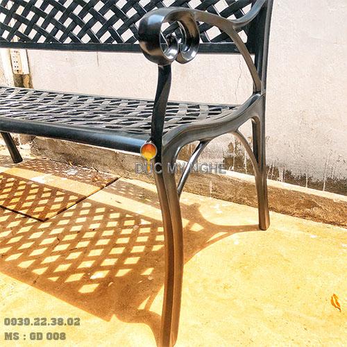 Ghế Băng Dài Công Viên Nhôm Đúc Ngoài Trời Sân Vườn Đẹp Nhất Tphcm GD008 - Hình 7