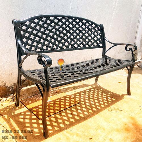 Ghế Băng Dài Công Viên Nhôm Đúc Ngoài Trời Sân Vườn Đẹp Nhất Tphcm GD008 - Hình 8
