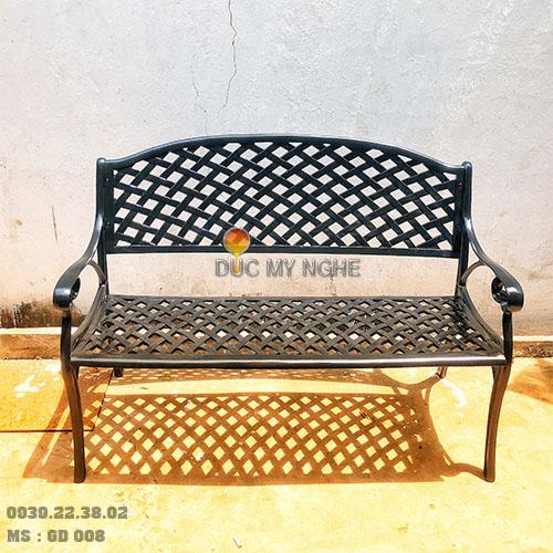 Ghế Băng Dài Công Viên Nhôm Đúc Ngoài Trời Sân Vườn Đẹp Nhất Tphcm GD008 - Hình 9