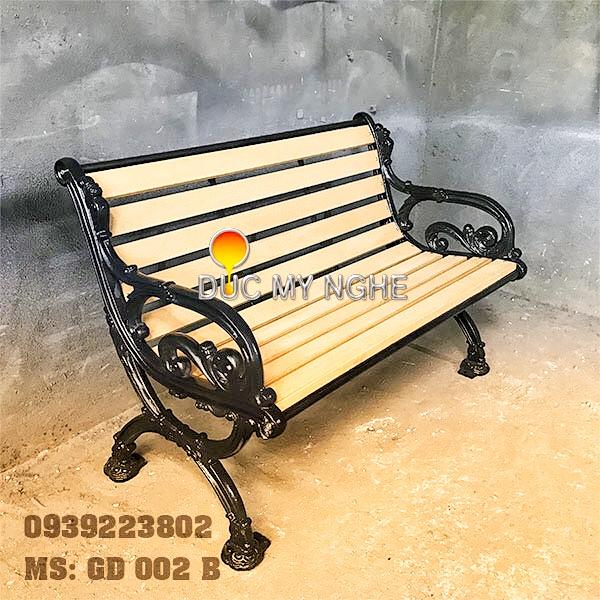 Ghế Băng Dài Công Viên Gang Đúc Gỗ Nhựa Ngoài Trời Sân Vườn Giá Rẻ Tphcm GD002B - Hình 1