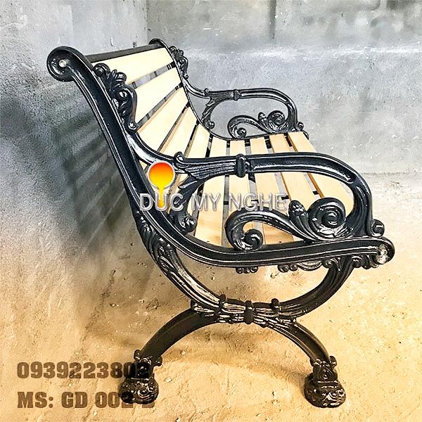 Ghế Băng Dài Công Viên Gang Đúc Gỗ Nhựa Ngoài Trời Sân Vườn Giá Rẻ Tphcm GD002B - Hình 2