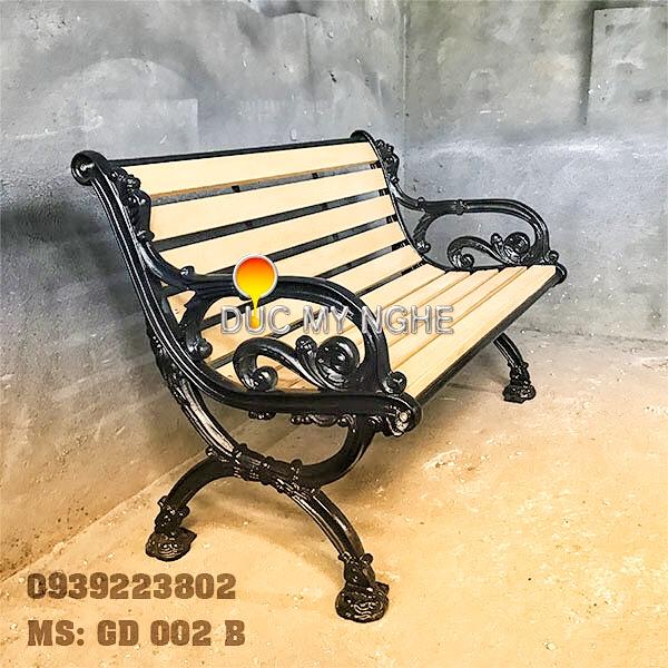 Ghế Băng Dài Công Viên Gang Đúc Gỗ Nhựa Ngoài Trời Sân Vườn Giá Rẻ Tphcm GD002B - Hình 3