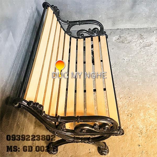 Ghế Băng Dài Công Viên Gang Đúc Gỗ Nhựa Ngoài Trời Sân Vườn Giá Rẻ Tphcm GD002B - Hình 4