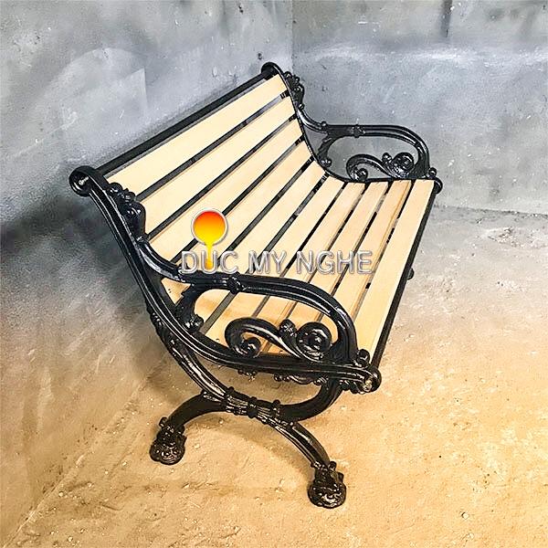 Ghế Băng Dài Công Viên Gang Đúc Gỗ Nhựa Ngoài Trời Sân Vườn Giá Rẻ Tphcm GD002B - Hình 5