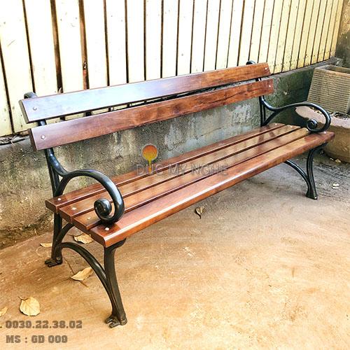 Ghế Công Viên Gang Đúc Gỗ Nhựa Ngoài Trời Sân Vườn Giá Rẻ Ở Tphcm GD009A - Hình 1