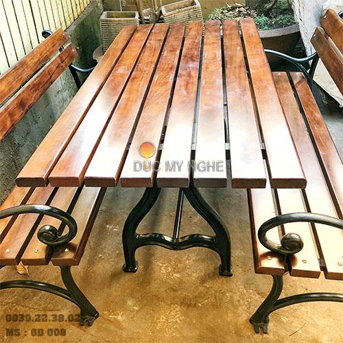 Ghế Công Viên Gang Đúc Gỗ Nhựa Ngoài Trời Sân Vườn Giá Rẻ Ở Tphcm GD009A - Hình 2