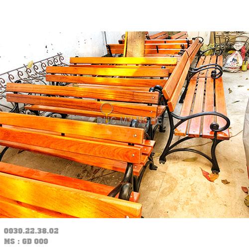 Ghế Công Viên Gang Đúc Gỗ Nhựa Ngoài Trời Sân Vườn Giá Rẻ Ở Tphcm GD009A - Hình 4