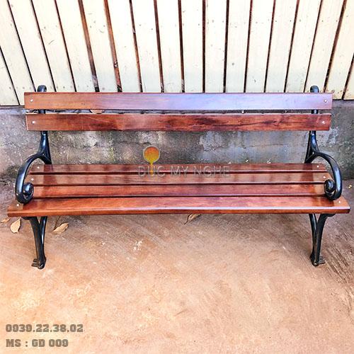 Ghế Công Viên Gang Đúc Gỗ Nhựa Ngoài Trời Sân Vườn Giá Rẻ Ở Tphcm GD009A - Hình 6