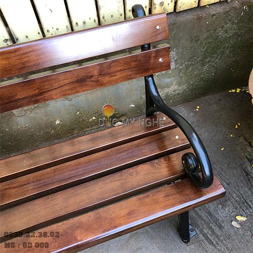 Ghế Công Viên Gang Đúc Gỗ Nhựa Ngoài Trời Sân Vườn Giá Rẻ Ở Tphcm GD009A - Hình 8