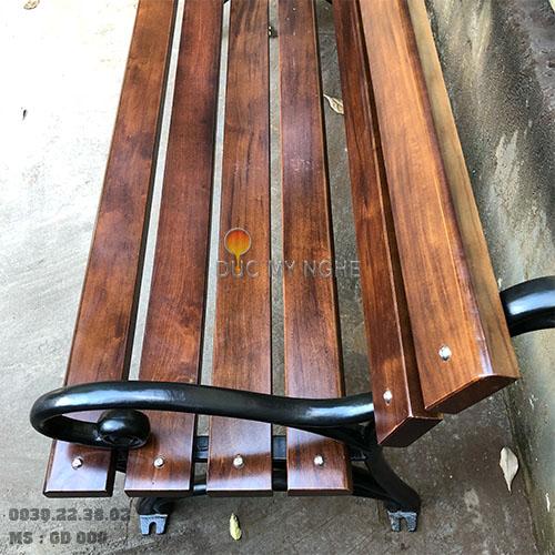Ghế Công Viên Gang Đúc Gỗ Nhựa Ngoài Trời Sân Vườn Giá Rẻ Ở Tphcm GD009A - Hình 9