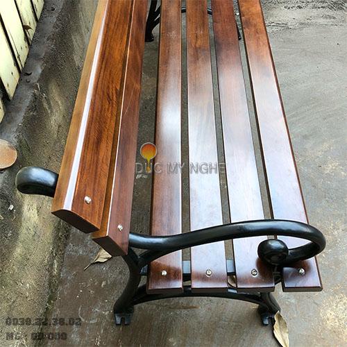 Ghế Công Viên Gang Đúc Gỗ Nhựa Ngoài Trời Sân Vườn Giá Rẻ Ở Tphcm GD009A - Hình 10