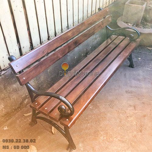 Ghế Công Viên Gang Đúc Gỗ Nhựa Ngoài Trời Sân Vườn Giá Rẻ Ở Tphcm GD009A - Hình 11
