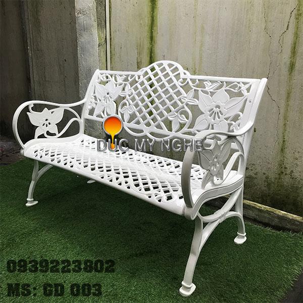 Ghế Băng Dài Ngồi Chờ Nhôm Đúc Ngoài Trời Sân Vuờn GD003 - Hình 3