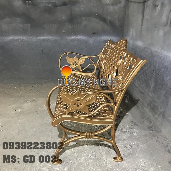 Ghế Băng Dài Ngồi Chờ Nhôm Đúc Ngoài Trời Sân Vuờn GD003 - Hình 12