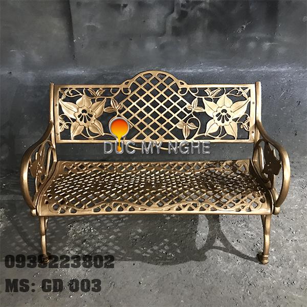 Ghế Băng Dài Ngồi Chờ Nhôm Đúc Ngoài Trời Sân Vuờn GD003 - Hình 13