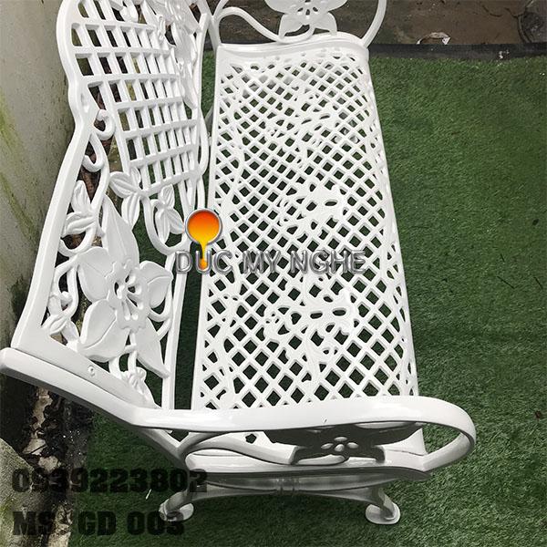 Ghế Băng Dài Ngồi Chờ Nhôm Đúc Ngoài Trời Sân Vuờn GD003 - Hình 4