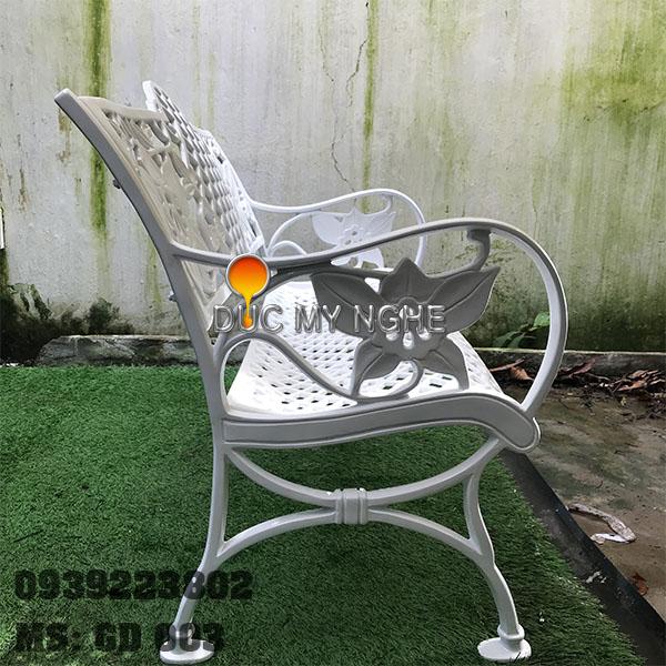 Ghế Băng Dài Ngồi Chờ Nhôm Đúc Ngoài Trời Sân Vuờn GD003 - Hình 10