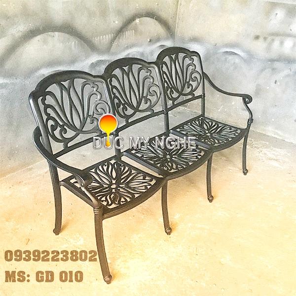 Ghế Băng Dài Ngồi Chờ Nhôm Đúc - Ngoài Trời Sân Vườn Đẹp ở Tphcm GD010 - Hình 1