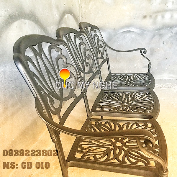 Ghế Băng Dài Ngồi Chờ Nhôm Đúc - Ngoài Trời Sân Vườn Đẹp ở Tphcm GD010 - Hình 3
