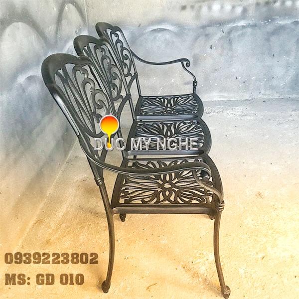 Ghế Băng Dài Ngồi Chờ Nhôm Đúc - Ngoài Trời Sân Vườn Đẹp ở Tphcm GD010 - Hình 4