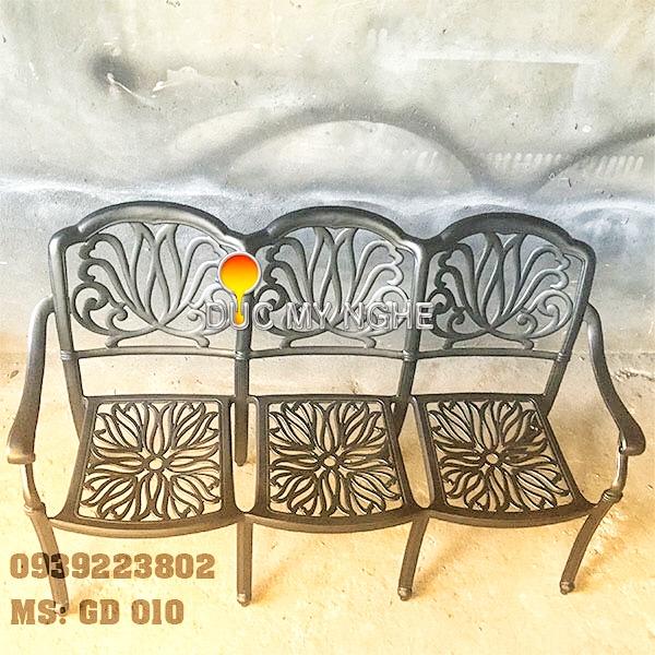 Ghế Băng Dài Ngồi Chờ Nhôm Đúc - Ngoài Trời Sân Vườn Đẹp ở Tphcm GD010 - Hình 5