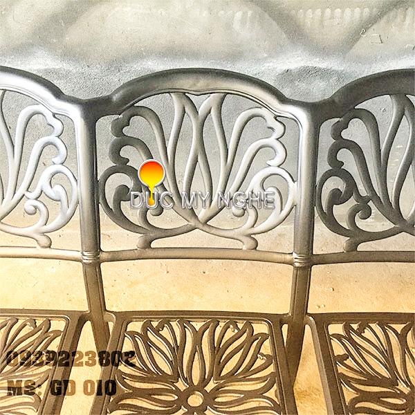 Ghế Băng Dài Ngồi Chờ Nhôm Đúc - Ngoài Trời Sân Vườn Đẹp ở Tphcm GD010 - Hình 6