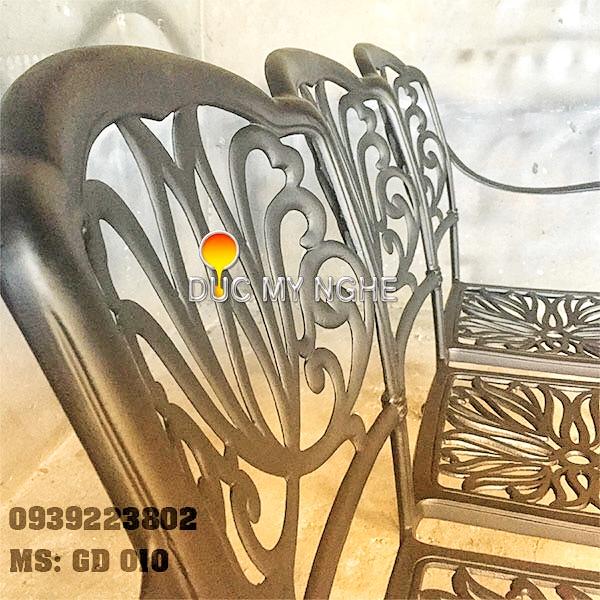 Ghế Băng Dài Ngồi Chờ Nhôm Đúc - Ngoài Trời Sân Vườn Đẹp ở Tphcm GD010 - Hình 7