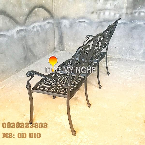 Ghế Băng Dài Ngồi Chờ Nhôm Đúc - Ngoài Trời Sân Vườn Đẹp ở Tphcm GD010 - Hình 8