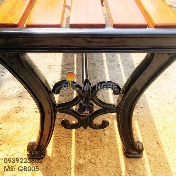 Ghế Bench Gang Đúc Dài Ngồi Chờ Không Lưng Tựa Ngoài Trời GB005 - Hình 2