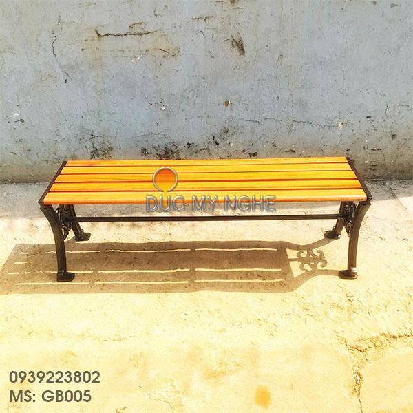 Ghế Bench Gang Đúc Dài Ngồi Chờ Không Lưng Tựa Ngoài Trời GB005 - Hình 4