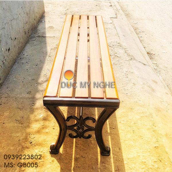 Ghế Bench Gang Đúc Dài Ngồi Chờ Không Lưng Tựa Ngoài Trời GB005 - Hình 7