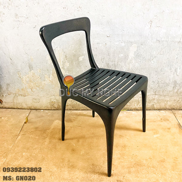 Ghế Cafe Hợp Kim Nhôm Đúc Ngoài Trời Nhà Hàng Khách Sạn GN020 - Hình 1