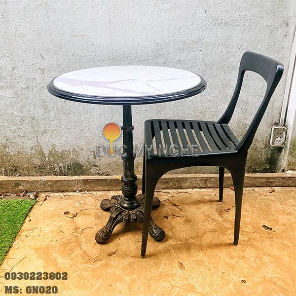 Ghế Cafe Hợp Kim Nhôm Đúc Ngoài Trời Nhà Hàng Khách Sạn GN020 - Hình 3
