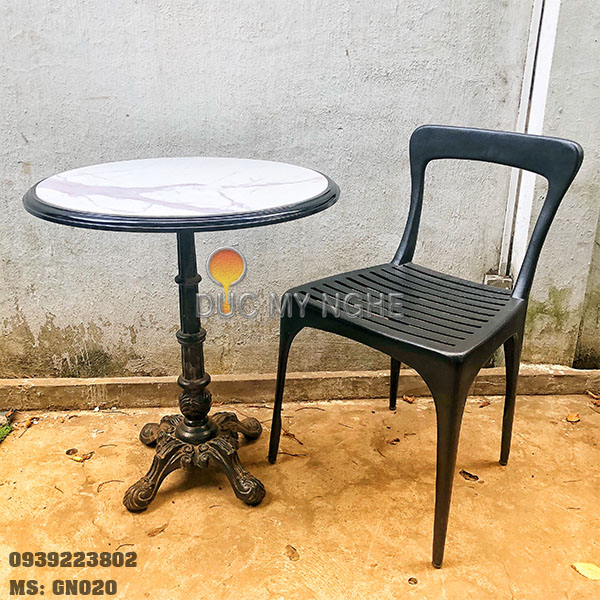 Ghế Cafe Hợp Kim Nhôm Đúc Ngoài Trời Nhà Hàng Khách Sạn GN020 - Hình 4