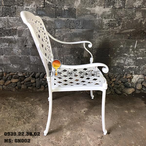 Ghế Cafe Hợp Kim Nhôm Đúc Ngoài Trời Sân Vườn Sơn Tĩnh Điện GN002 - Hình 3